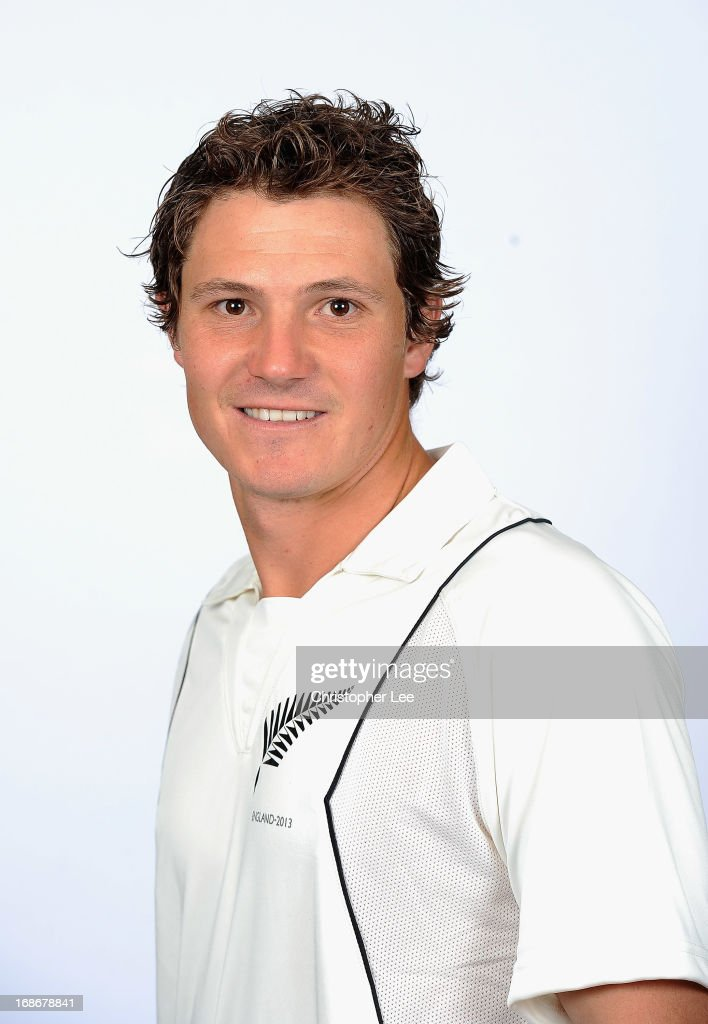 Watling poses for the camera during the New Zealand Cricket Headshots at Lords on May 13 2013 in London England