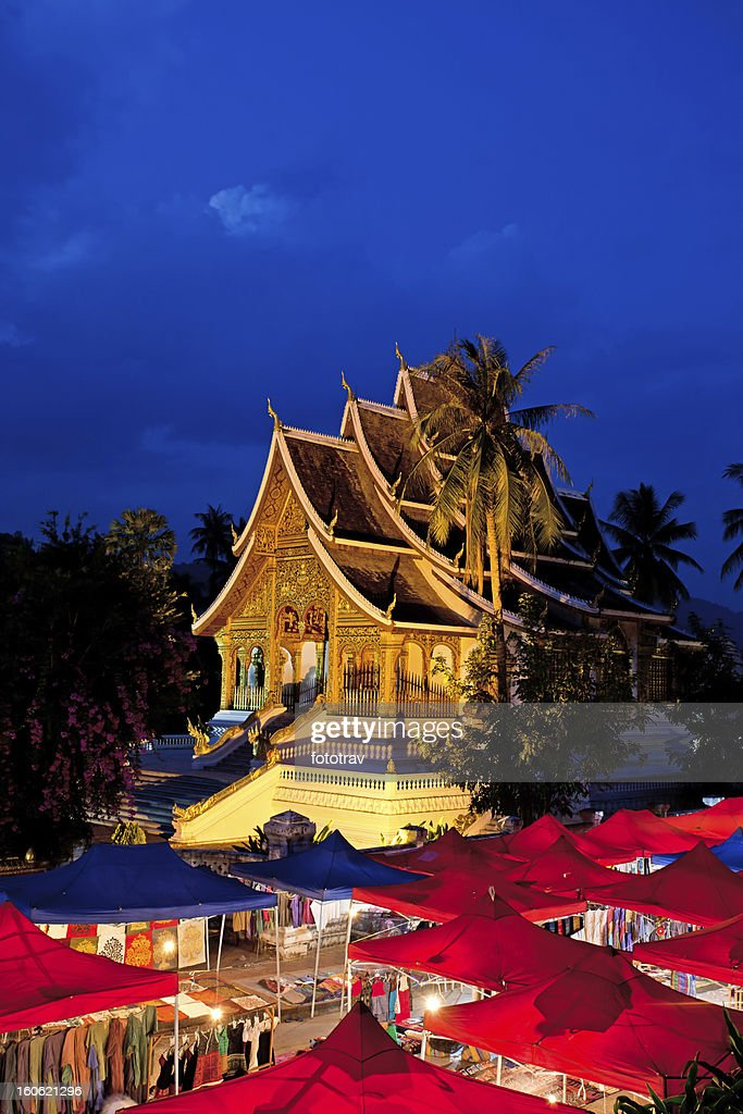Watmai Suwannaphumaham in Luang Prabang, Laos : Stock Photo