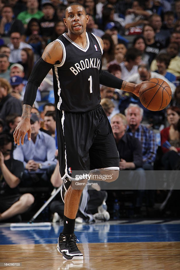 <a gi-track='captionPersonalityLinkClicked' href=/galleries/search?phrase=C.J.+Watson&family=editorial&specificpeople=740190 ng-click='$event.stopPropagation()'>C.J. Watson</a> #1 of the Brooklyn Nets brings the ball up court against the Dallas Mavericks on March 20, 2013 at the American Airlines Center in Dallas, Texas.