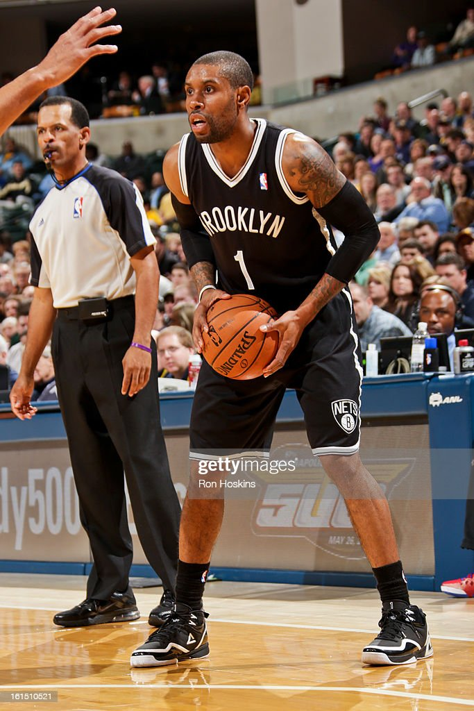 <a gi-track='captionPersonalityLinkClicked' href=/galleries/search?phrase=C.J.+Watson&family=editorial&specificpeople=740190 ng-click='$event.stopPropagation()'>C.J. Watson</a> #1 of the Brooklyn Nets controls the ball against the Indiana Pacers on February 11, 2013 at Bankers Life Fieldhouse in Indianapolis, Indiana.