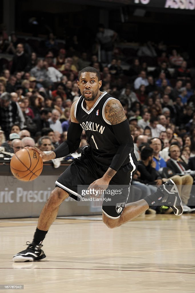 <a gi-track='captionPersonalityLinkClicked' href=/galleries/search?phrase=C.J.+Watson&family=editorial&specificpeople=740190 ng-click='$event.stopPropagation()'>C.J. Watson</a> #1 of the Brooklyn Nets drives against the Cleveland Cavaliers at The Quicken Loans Arena on April 3, 2013 in Cleveland, Ohio.