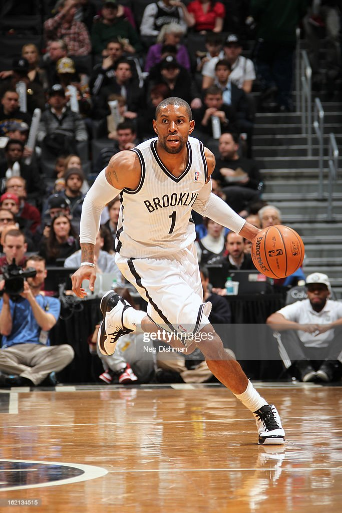 <a gi-track='captionPersonalityLinkClicked' href=/galleries/search?phrase=C.J.+Watson&family=editorial&specificpeople=740190 ng-click='$event.stopPropagation()'>C.J. Watson</a> #1 of the Brooklyn Nets handles the ball against the Denver Nuggets on February 13, 2013 at the Barclays Center in the Brooklyn borough of New York City in New York City.