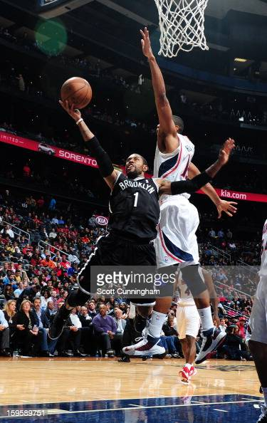 J Watson of the Brooklyn Nets shoots a layup against the Atlanta Hawks on January 16 2013 at Philips Arena in Atlanta Georgia NOTE TO USER User...