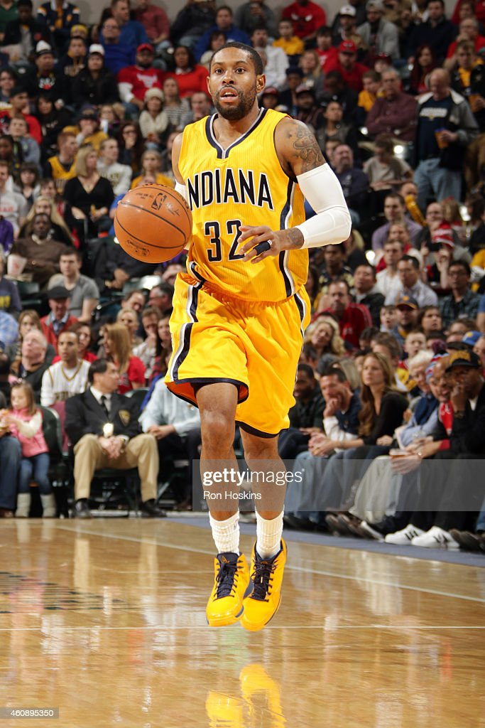 J Watson of the Indiana Pacers drives against the Chicago Bulls on December 29 2014 at Bankers Life Fieldhouse in Indianapolis Indiana NOTE TO USER...
