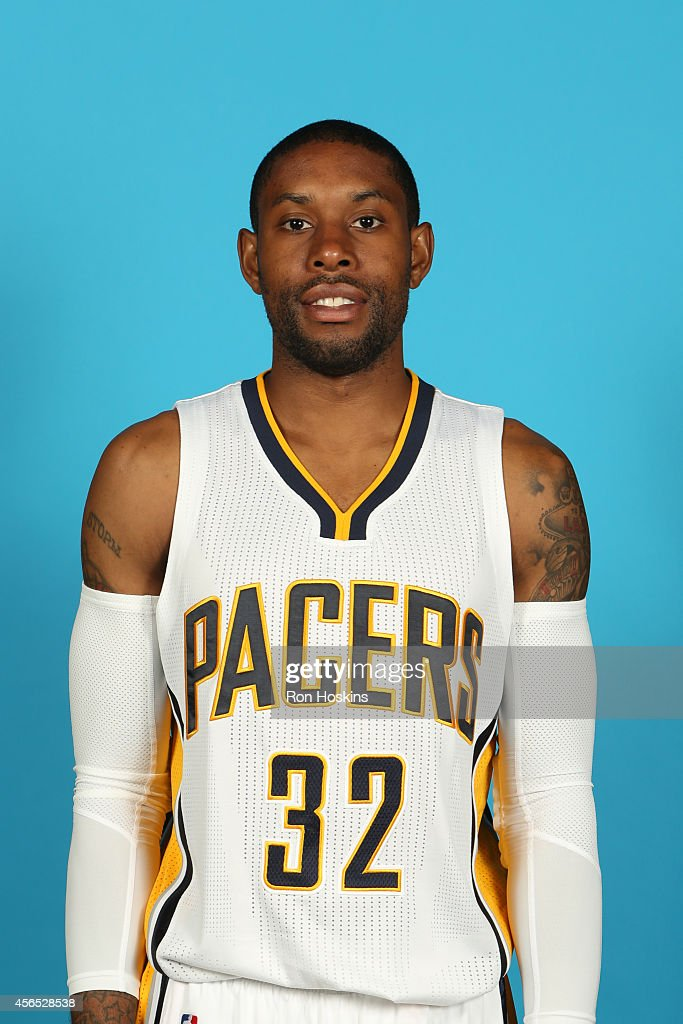 J Watson of the Indiana Pacers during the Pacers media day at Bankers Life Fieldhouse on September 29 2014 in Indianapolis Indiana NOTE TO USER User...