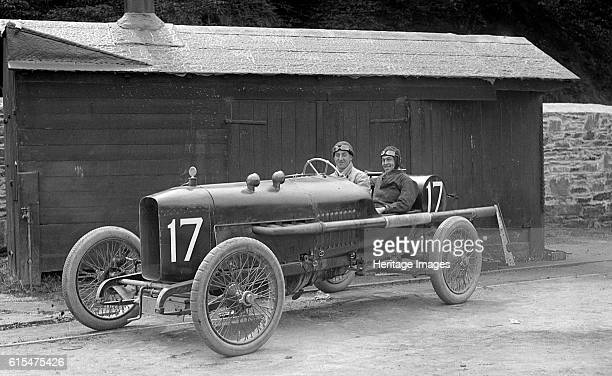WJ Watson's Vauxhall at the RAC Isle of Man TT race 10 June 1914 Vauxhall 3308 cc Event Entry No 17 Driver Watson WJ Possibly at weighingin Retired...