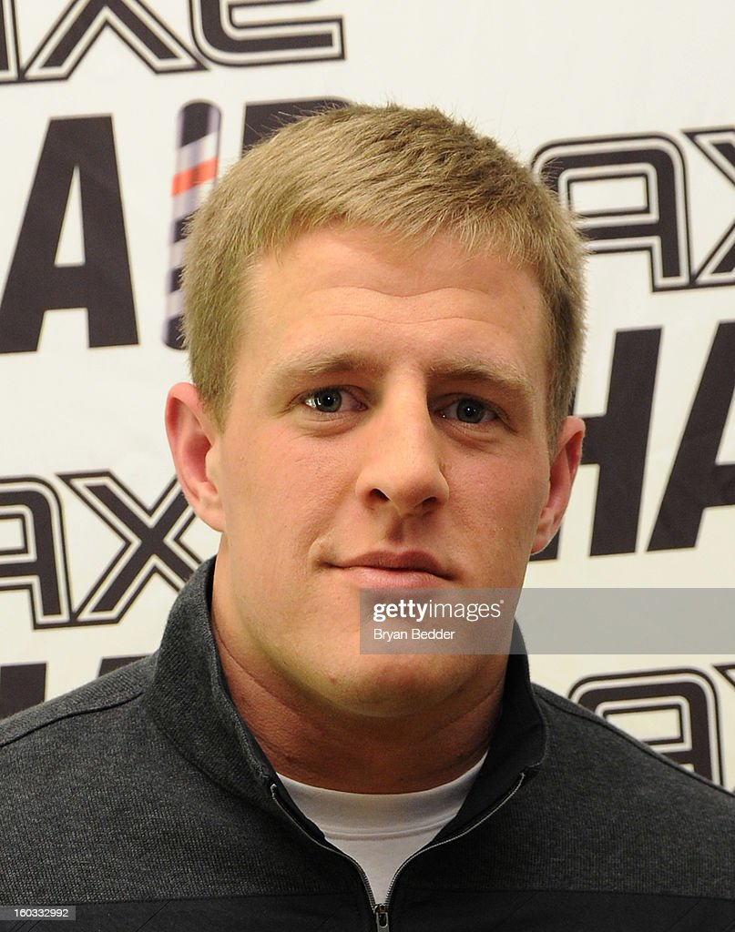 J.J. Watt before the defensive end received an extreme spiked-up look for the off-season at Truman's on January 29, 2013 in New York City.