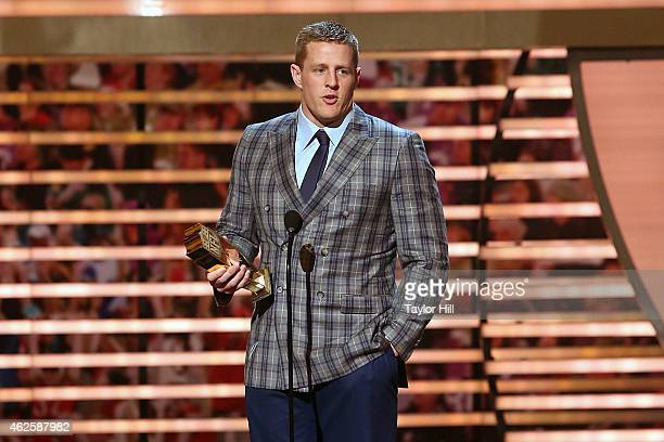 J Watt is named Defensive Player of the Year at the 2015 NFL Honors at Phoenix Convention Center on January 31 2015 in Phoenix Arizona