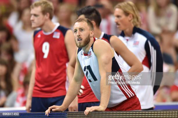 Watten Dustin during the FIVB World League 2017 match between Iran and USA at Arena Spodek on June 15 2017 in Katowice Poland