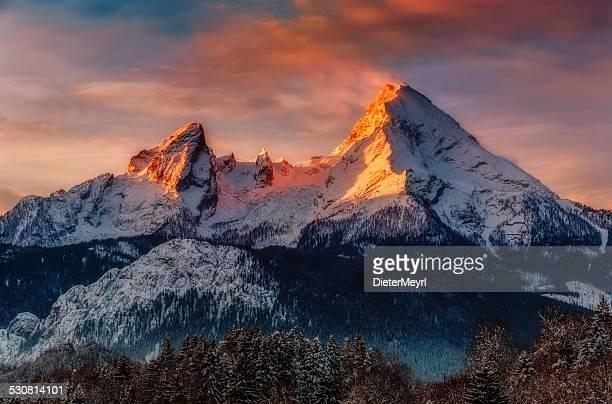 Watzmann bei Sonnenaufgang