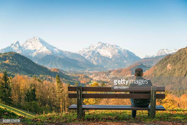 Watzmann mountain and Berchtesgaden town