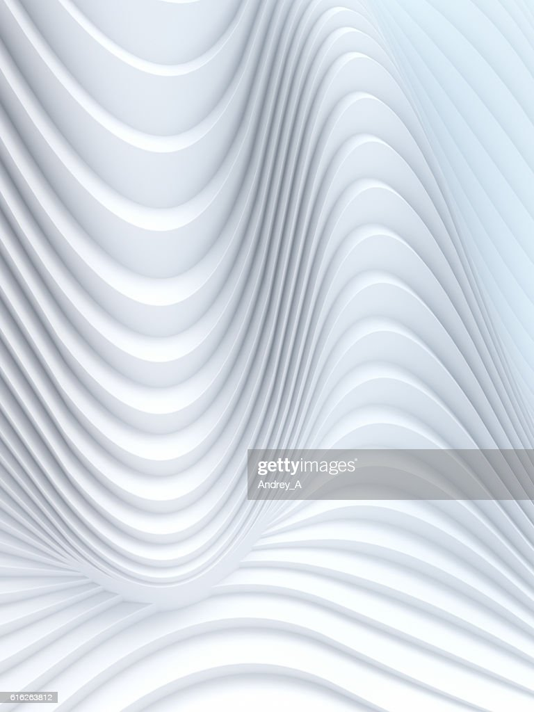 Wave band abstract background surface 3d rendering : Stock Photo