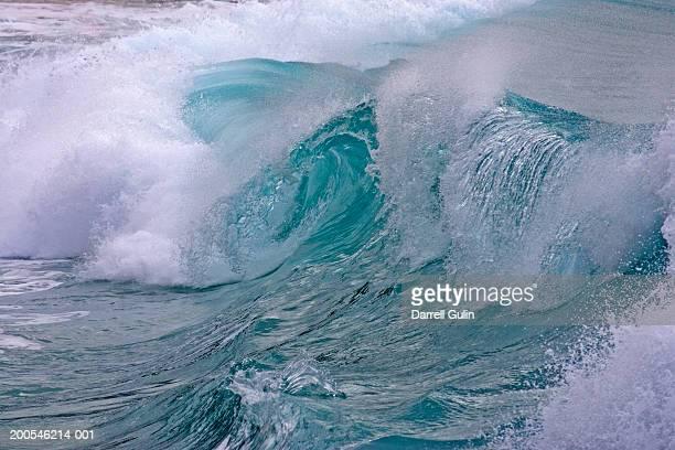 Wave crashing near shore