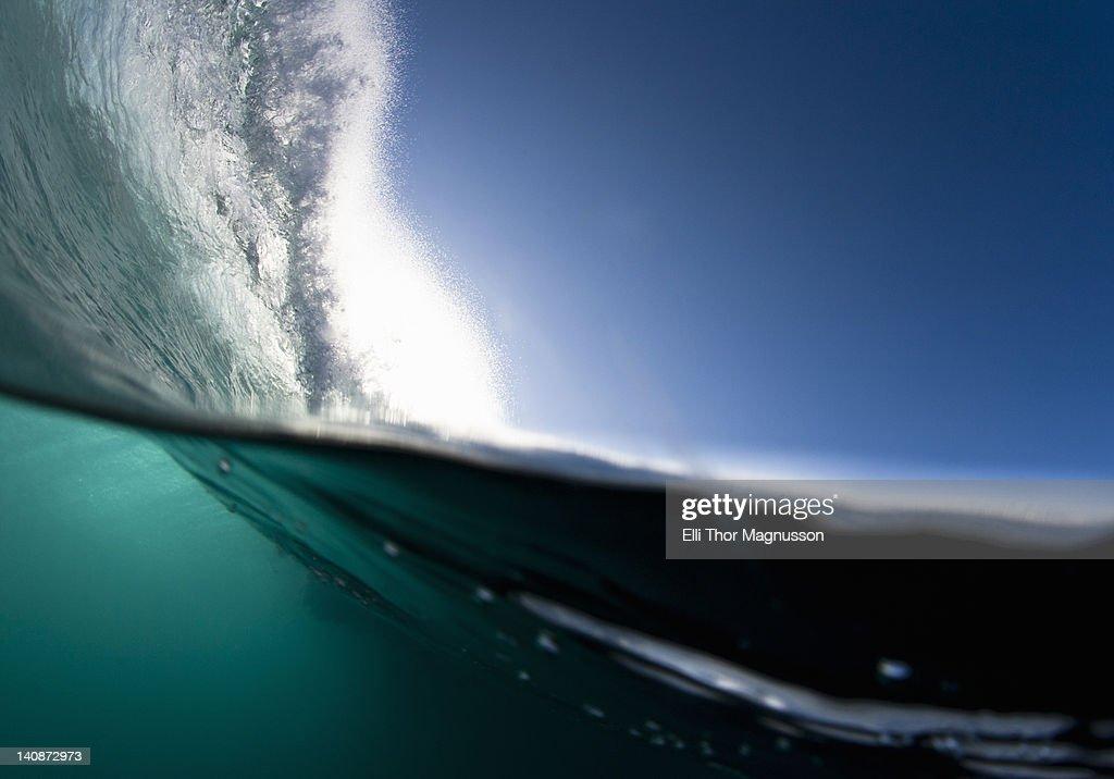 Wave crashing on water : Stock Photo