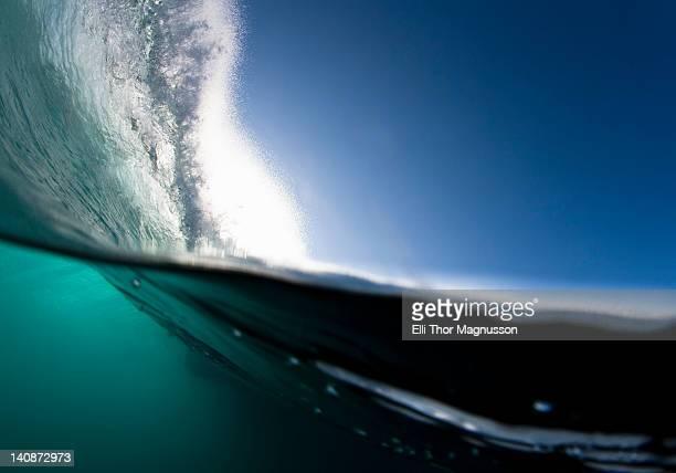 Wave crashing on water