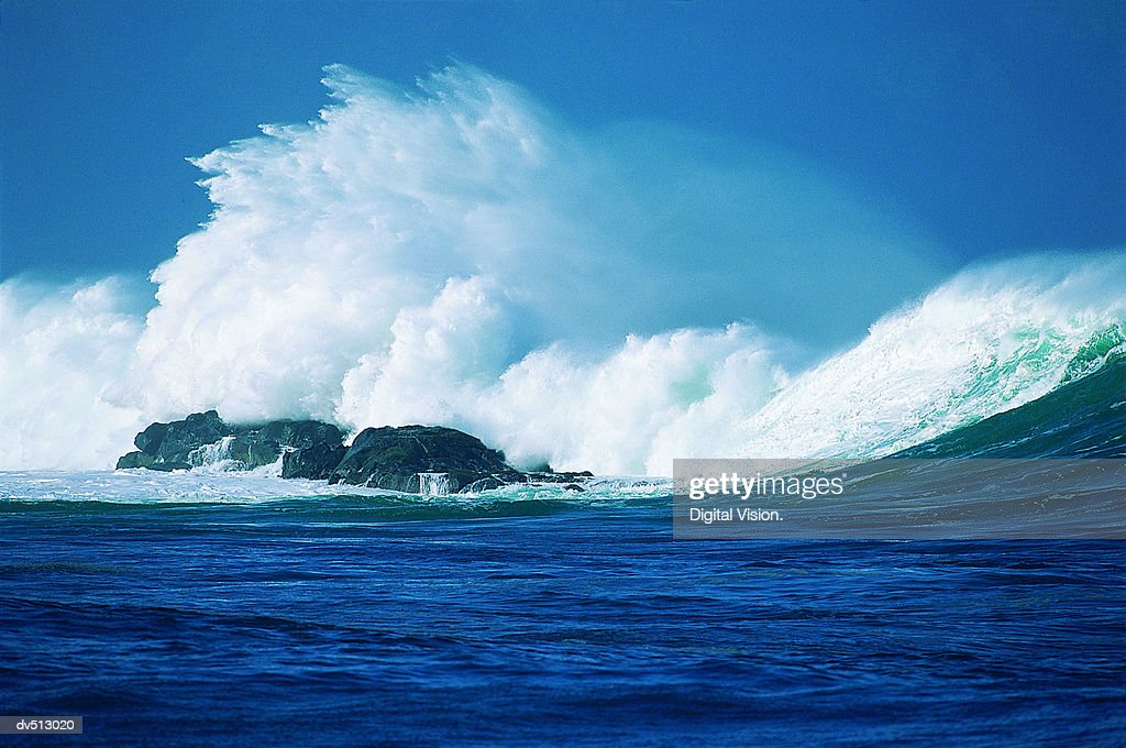 Wave, Hawaiian Islands, USA