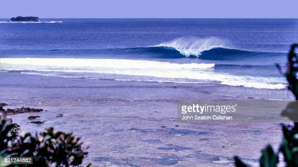 Wave in the Pacific Ocean off Siargao Island
