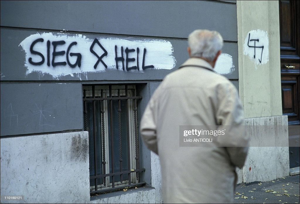 Wave of antiSemitism in Rome Italy on November 06 1992 AntiSemitic inscriptions