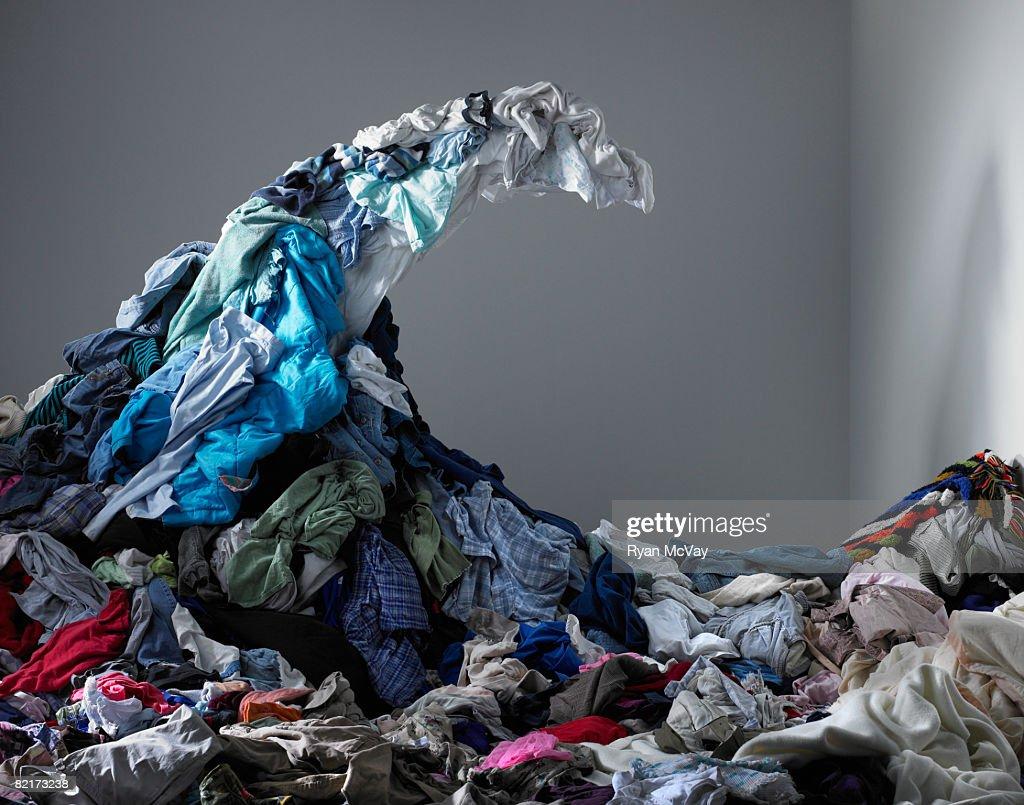 Wave of laundry  : Stock Photo