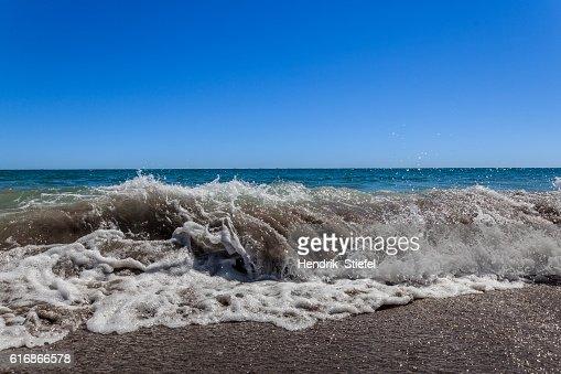 Wave on bay of plenty : Stock Photo