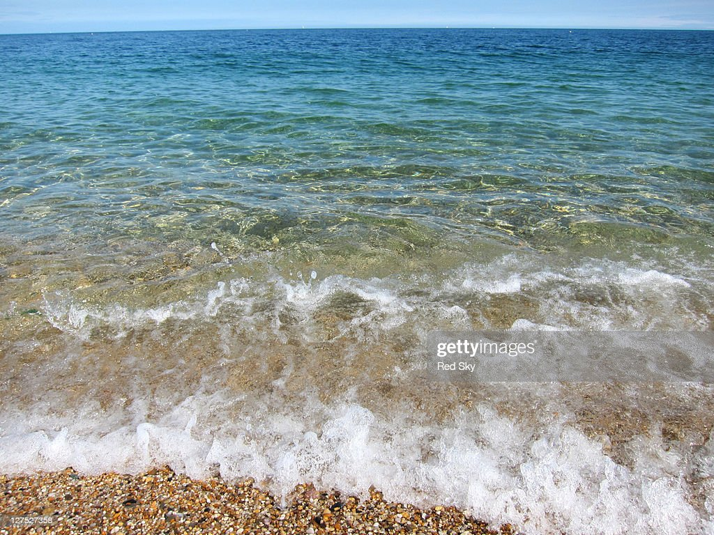 Wave on clear sea : Stock Photo