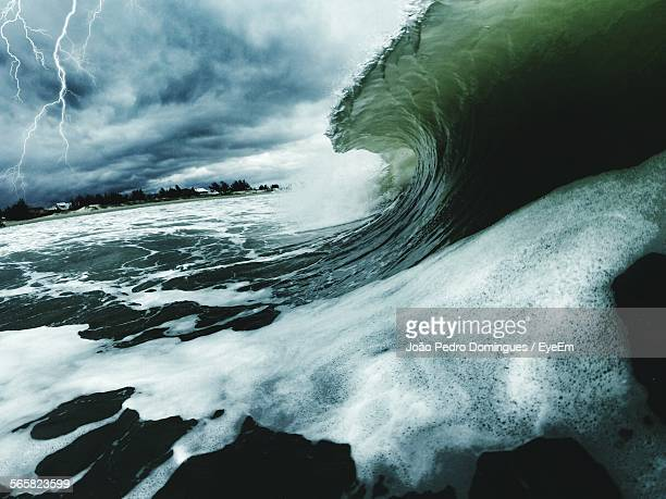 Wave On Sea During Storm