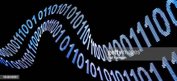 A wave pattern of binary code