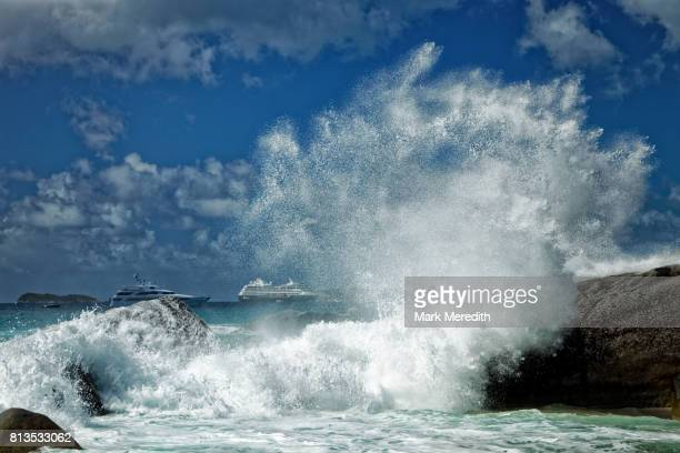 Wave power, The Baths National Park, Virgin Gorda, British Virgin Islands