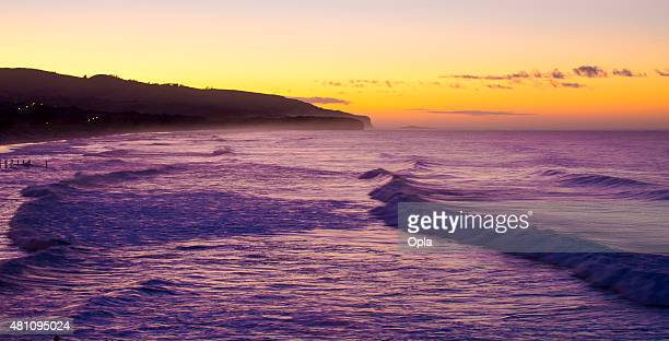 Waves breaking at St. Clair, Dunedin, New Zealand