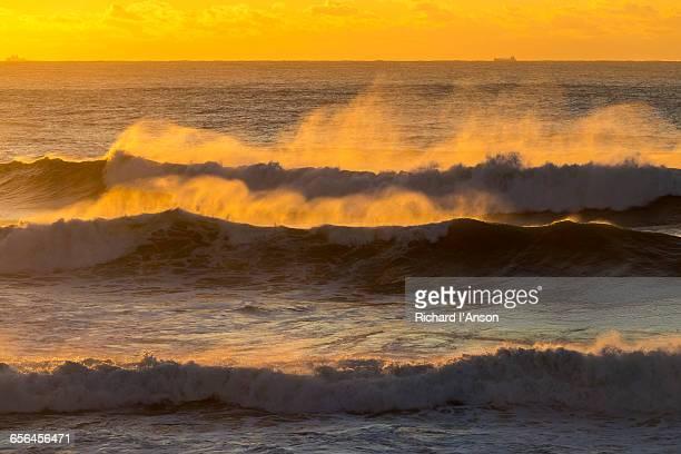 Waves breaking at Tamarama Beach at sunrise