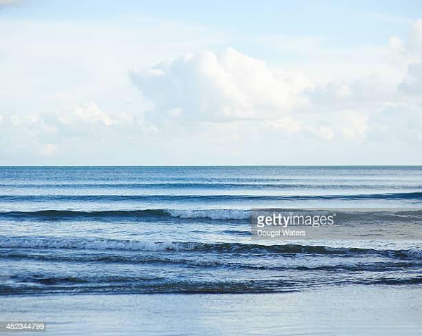 Waves crashing on Atlantic coastline