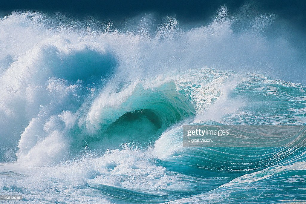 Waves crashing : Stock Photo