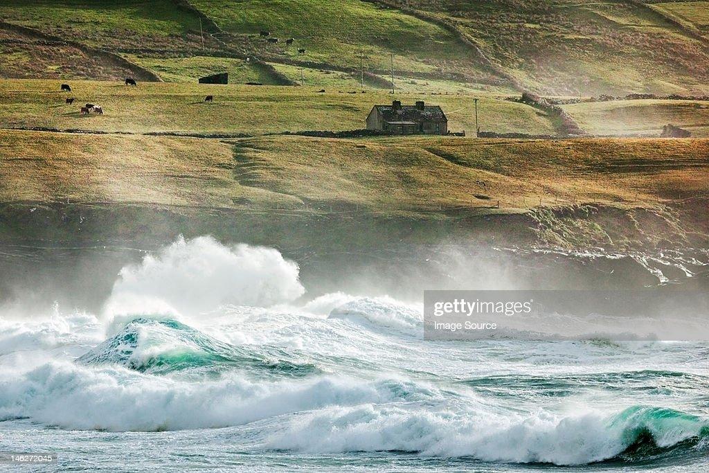 Waves, fisher street, doolin, county clare, ireland : Stock Photo