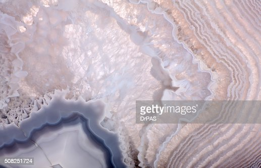 waves in grey agate structure : Stock Photo