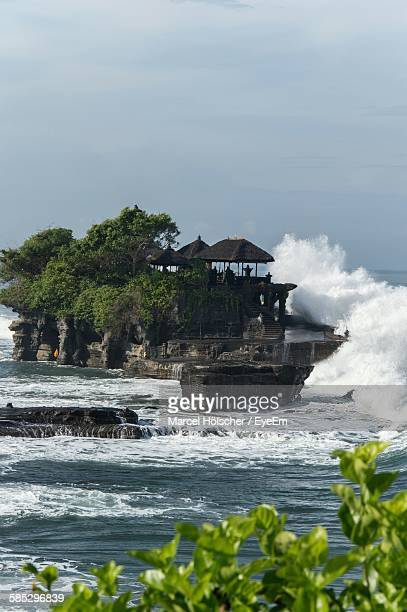 Waves Splashing On Tanah Lot