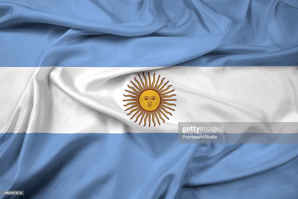 Waving Argentina Flag : Stock Photo
