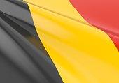 Waving belgium flag concept
