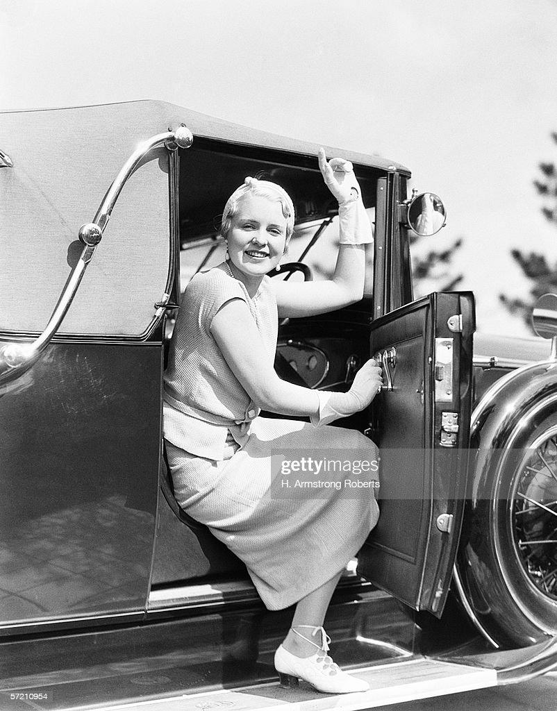 Waving driver : Stock Photo