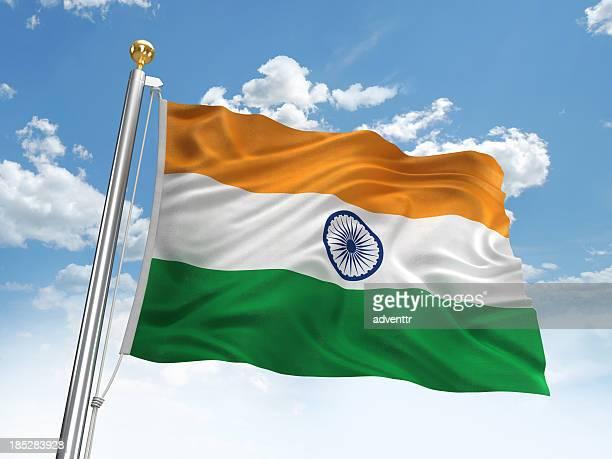 Waving India flag