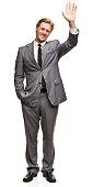Waving Man in Suit