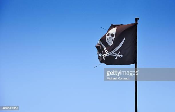 Waving pirate flag