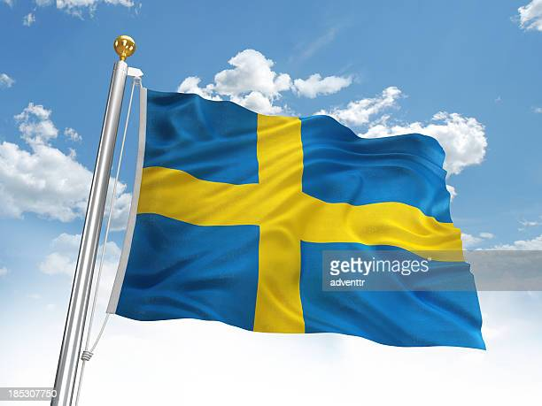 Waving Sweden flag