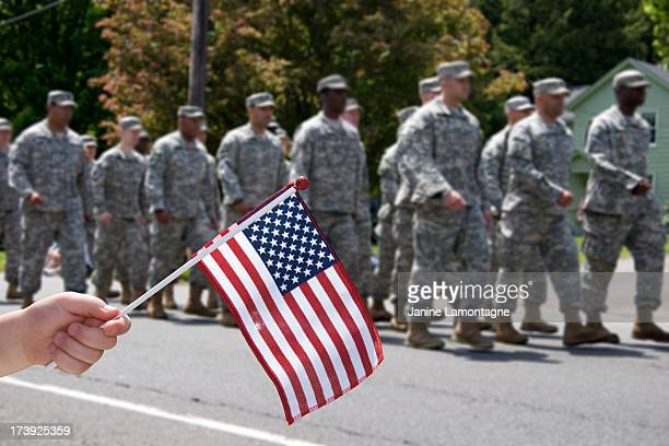 Waving the Flag for soldiers