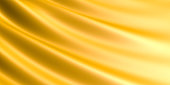 Wavy Golden fabric background.