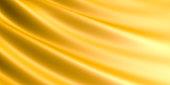 Wavy Golden fabric background.