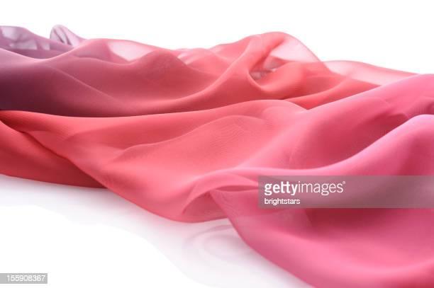 Wavy red silk