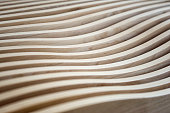 Wavy Wooden Surface Of A Furniture Can Be Used As Background