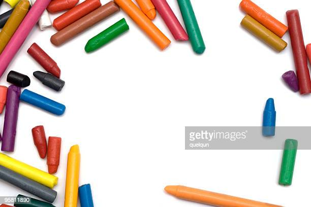 wax crayons isolated on white
