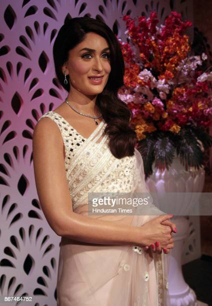 A wax figure of Bollywood actor Katrina Kaif displayed at Madame Tussauds Wax Museum at Connaught Place on October 24 2017 in New Delhi Located in...