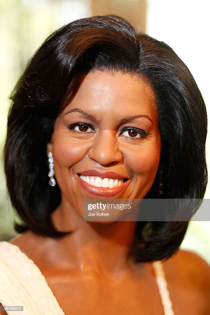 A wax figure of <b>First Lady</b> Michelle Obama unveiled, a part of Black History ... - wax-figure-of-first-lady-michelle-obama-unveiled-a-part-of-black-picture-id96190017
